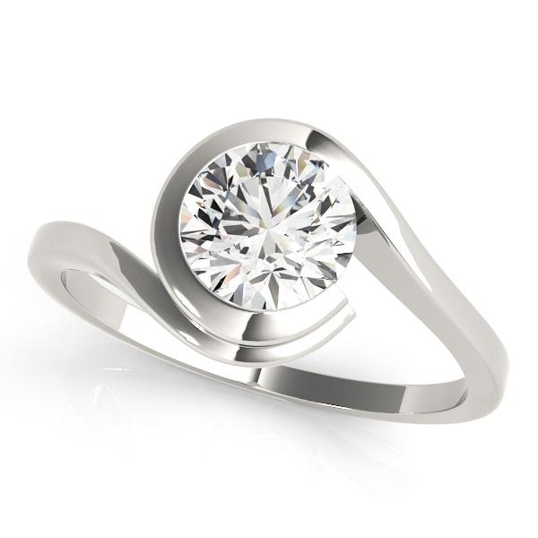 Solitaire Tension Set Diamond Engagement Ring Palladium (0.90ct)