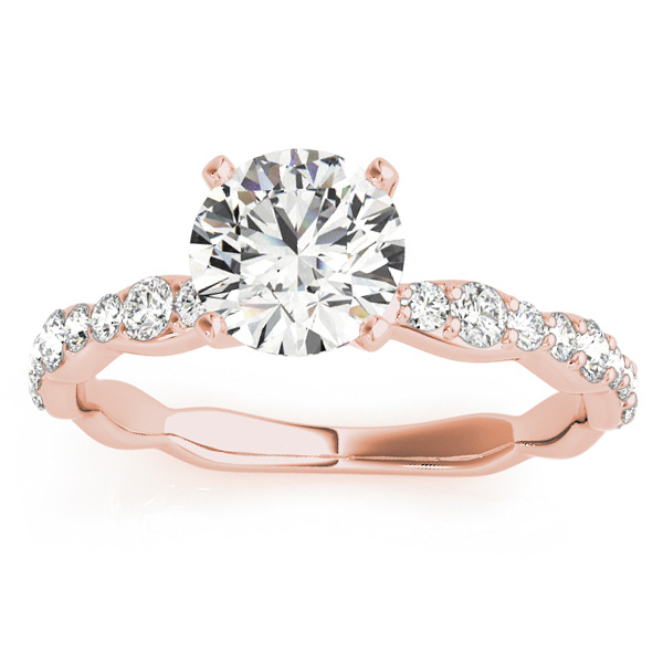 Solitaire Contoured Shank Diamond Engagement Ring 18k Rose Gold (0.33ct)