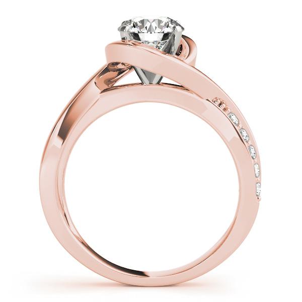 Diamond Bypass Engagement Ring Setting 18k Rose Gold 0 13ct Allurez