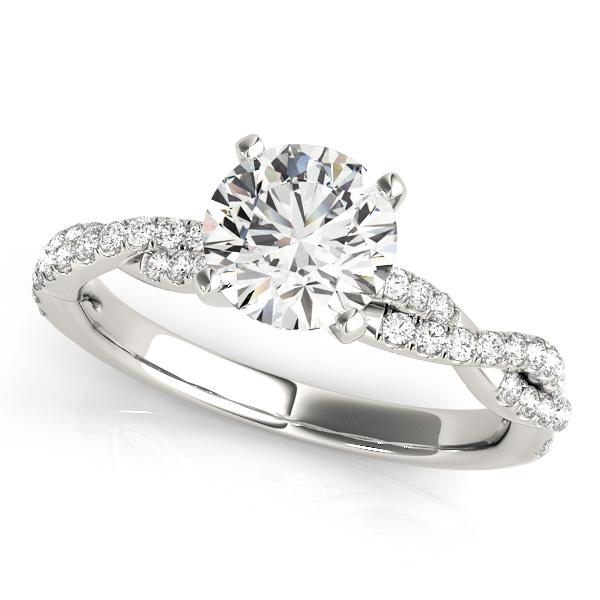 Diamond Twist Sidestone Accented Engagement Ring Platinum (1.69ct)