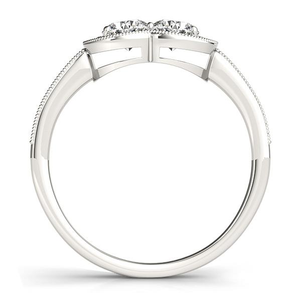 Diamond Double Halo Two Stone Ring 14k White Gold (0.50ct)