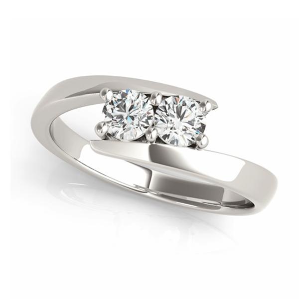 Diamond Solitaire Tension Two Stone Ring Palladium (1.00ct)