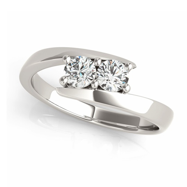 Diamond Solitaire Tension Two Stone Ring Platinum (1.00ct)