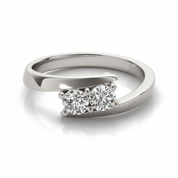 Diamond Solitaire Tension Two Stone Ring Platinum (2.00ct)
