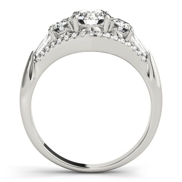 Multi Stone Baguette Baguette Diamond Engagement Ring 14k White Gold 1 38ct