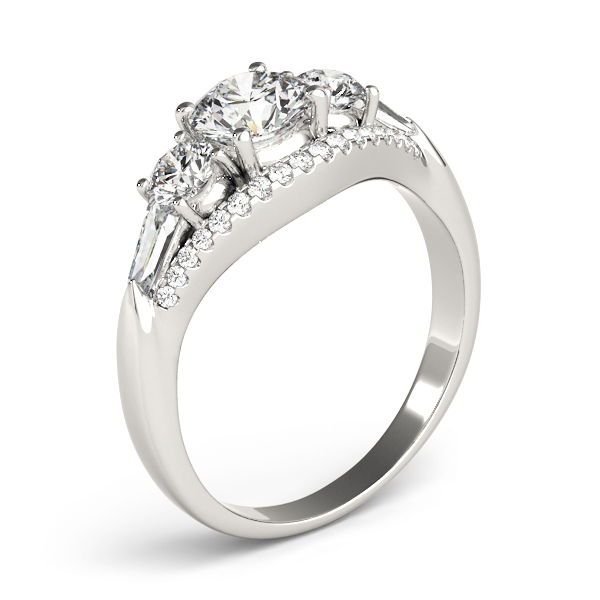 Multi-Stone Baguette Baguette Diamond Engagement Ring 14k