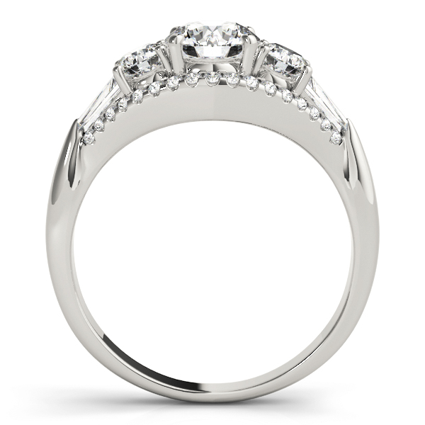 Multi-Stone Baguette Diamond Engagement Ring 18k White