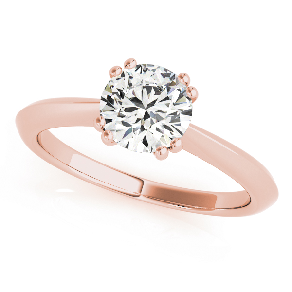 Diamond Solitaire 8 Prong Engagement Ring 18k Rose Gold (1.00ct)