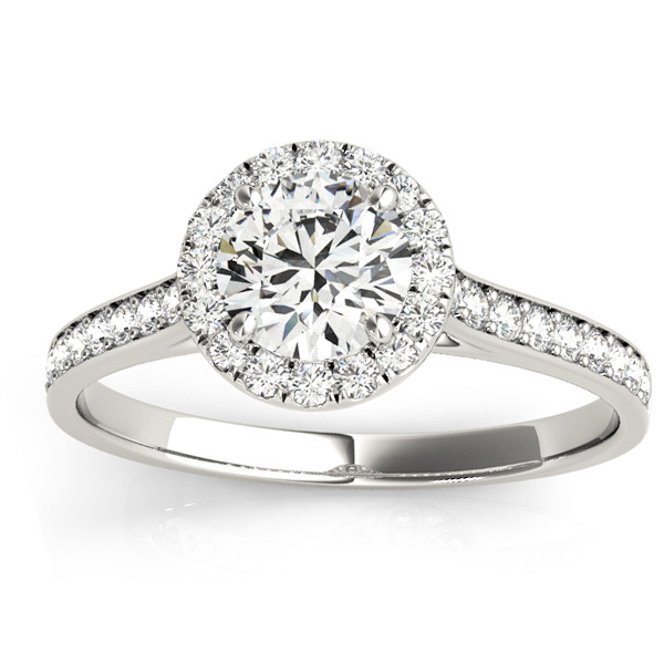 Diamond Halo Engagement Ring Platinum (0.29ct)