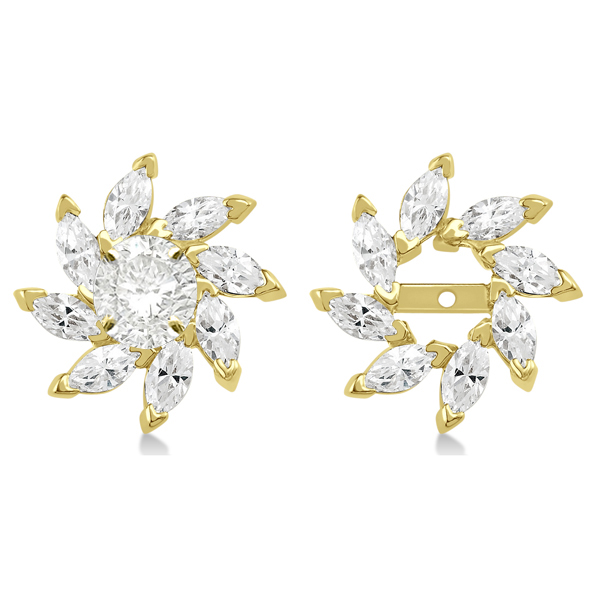 Marquise Earring Jackets in 14k Yellow Gold (1.60ct)
