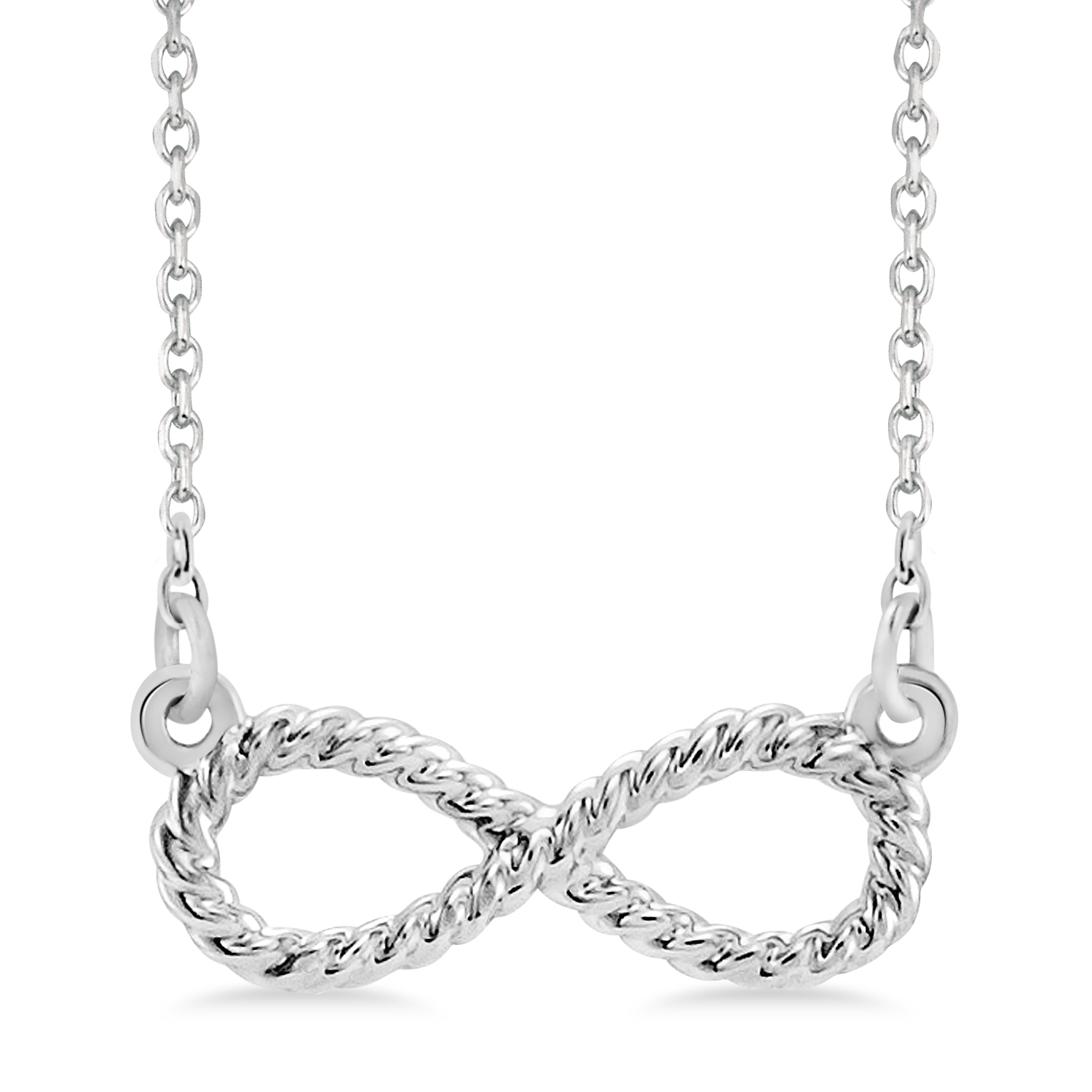 Infinity Rope Pendant Necklace Sterling Silver