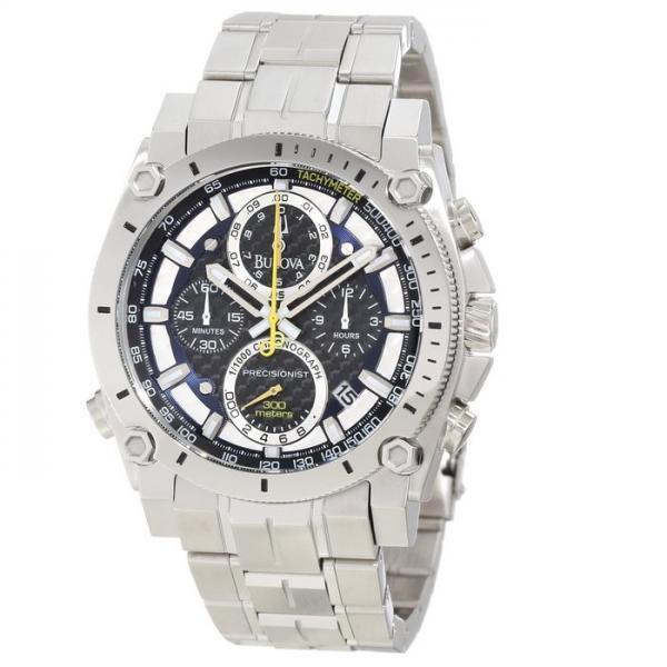 Bulova Men's Precisionist Stainless Steel Water-Resistant Watch