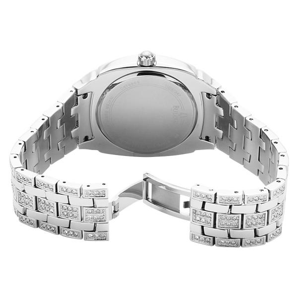 Men's Bulova Crystal Accented Quartz Watch, Stainless Steel Bracelet