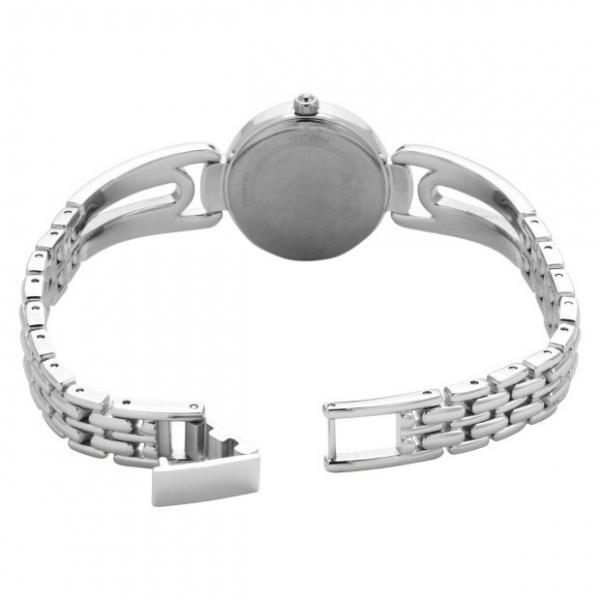 Bulova Women's Swarovski Crystal Bangle Stainless Steel Quartz Watch