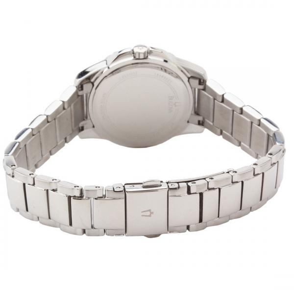 Bulova Women's Mother-of-Pearl Dial Stainless Steel Diamond Watch