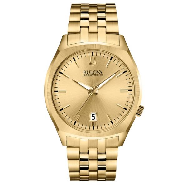 Women's Bulova Quartz Watch, Gold Tone Dial & Stainless Steel Bracelet