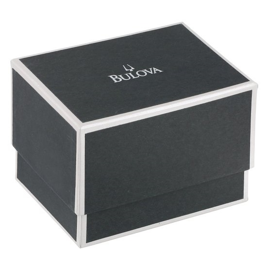 Bulova Men's Black Rubber Strap Rose-Tone Champlain Watch Precisionist