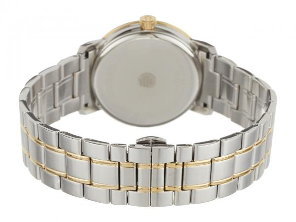 Bulova Men's White Dial Two Tone Stainless Steel Bracelet Quartz Watch