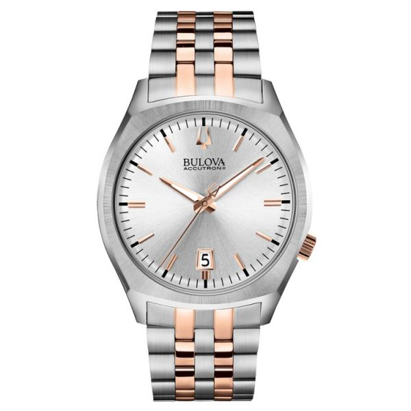 Bulova Accutron Quartz Watch, Silver Dial Stainless Steel Bracelet