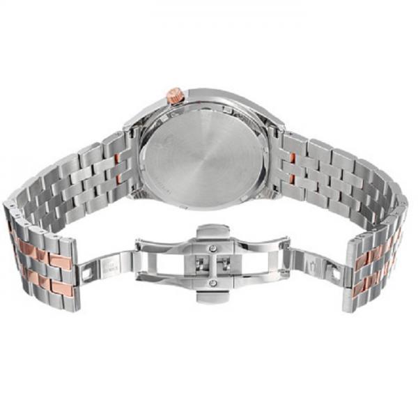 Bulova Accutron Quartz Watch, Silver Dial Stainless Steel Bracelet