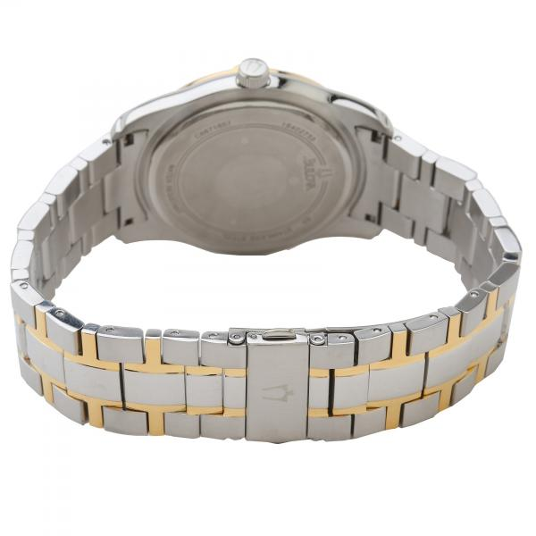 Bulova Men's Two Tone Diamond Stainless Steel Chronograph Quartz Watch