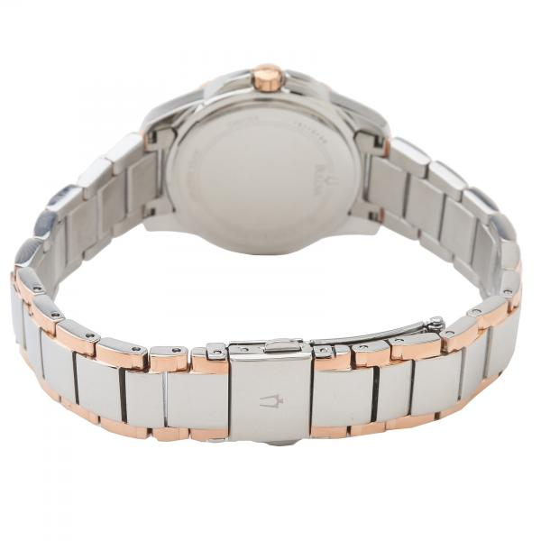 Bulova Women's Mother-of-Pearl Dial Two Tone Diamond Quartz Watch