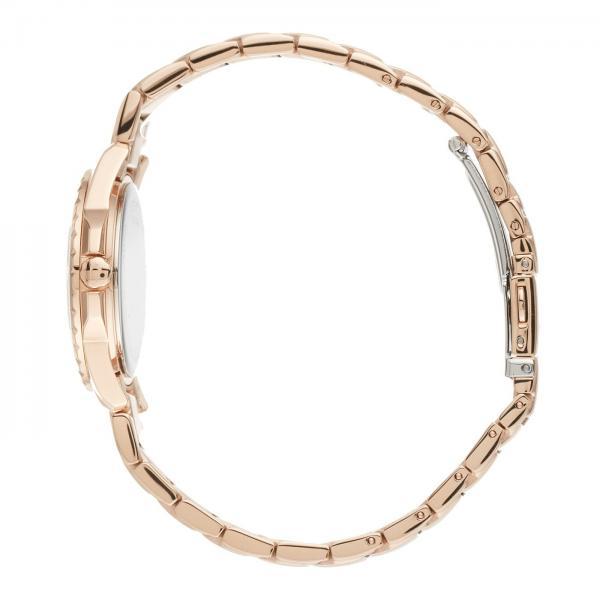 Bulova Women's Rose Gold-Tone Stainless Steel Diamond Quartz Watch