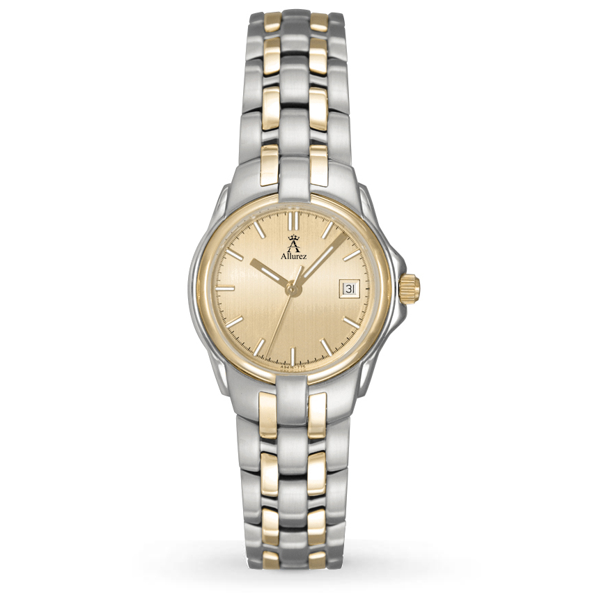 Allurez Women's Gold-tone Stainless Steel Luminous Watch