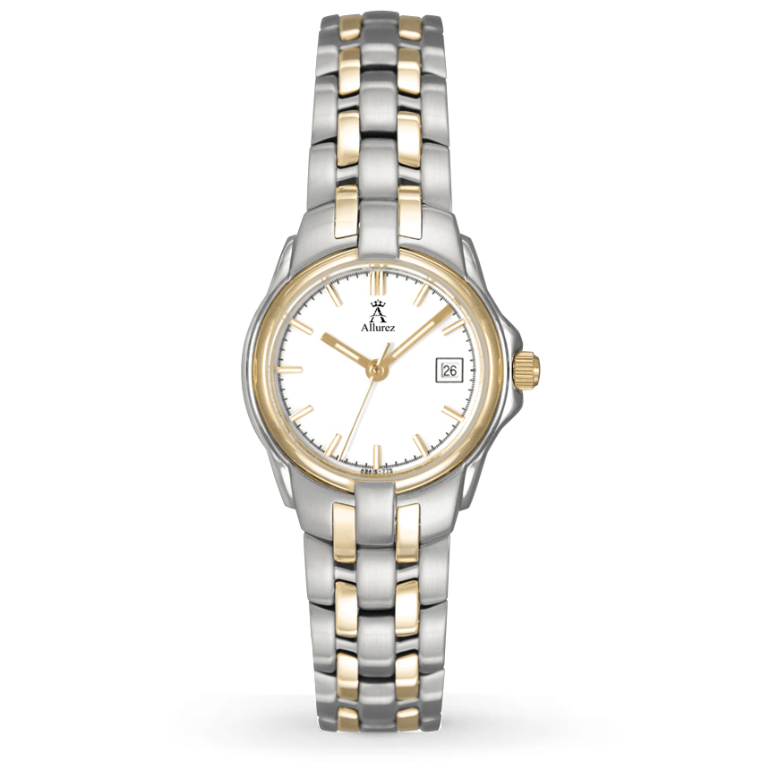 Allurez Womens Two-Tone Stainless Steel Luminous Watch