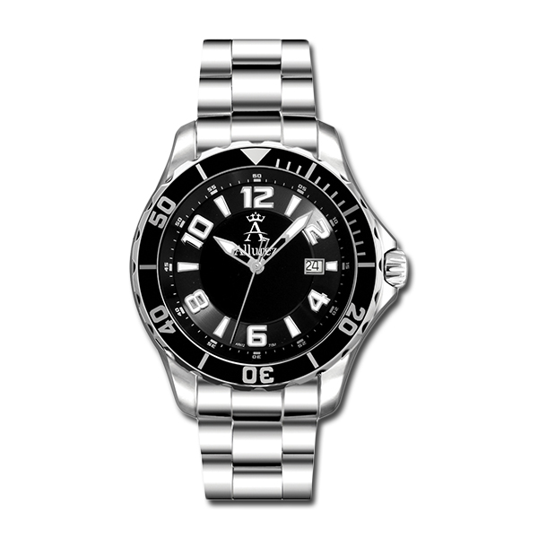 Allurez Men's Tachymeter Diver Watch Swiss Made Stainless Steel Luxury