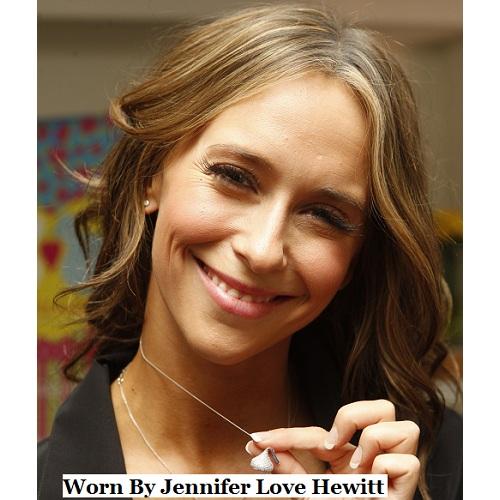 Hershey's Kisses Large Flat Back Pendant Necklace 14k White Gold
