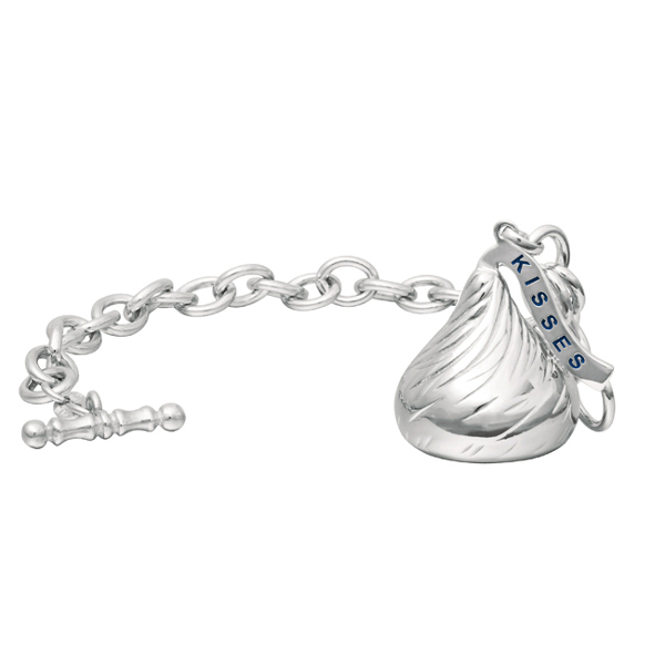 Hershey's Kiss X-Large Toggle Bracelet 1 Charm Sterling Silver