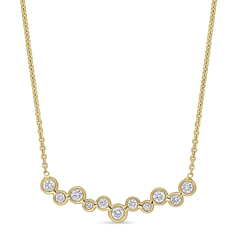 Round Diamond Necklace 18k Yellow Gold (0.35 ct)