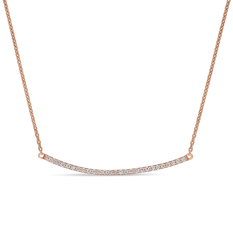Round Diamond Necklace 18k Rose Gold (0.20 ct)