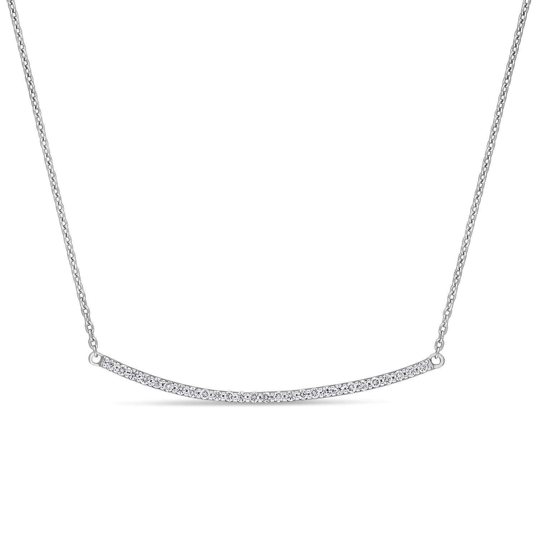 Round Diamond Necklace 18k White Gold (0.20 ct)