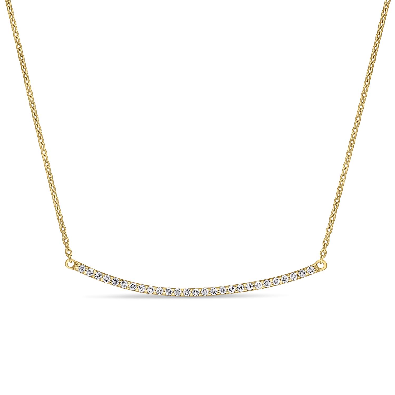 Round Diamond Necklace 18k Yellow Gold (0.20 ct)