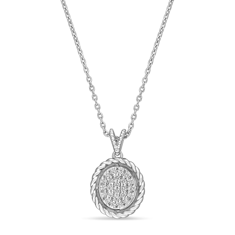 Round Diamond Pendant 18k White Gold (0.16ct)