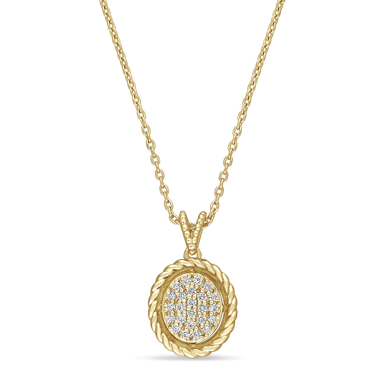 Round Diamond Pendant 18k Yellow Gold (0.16ct)