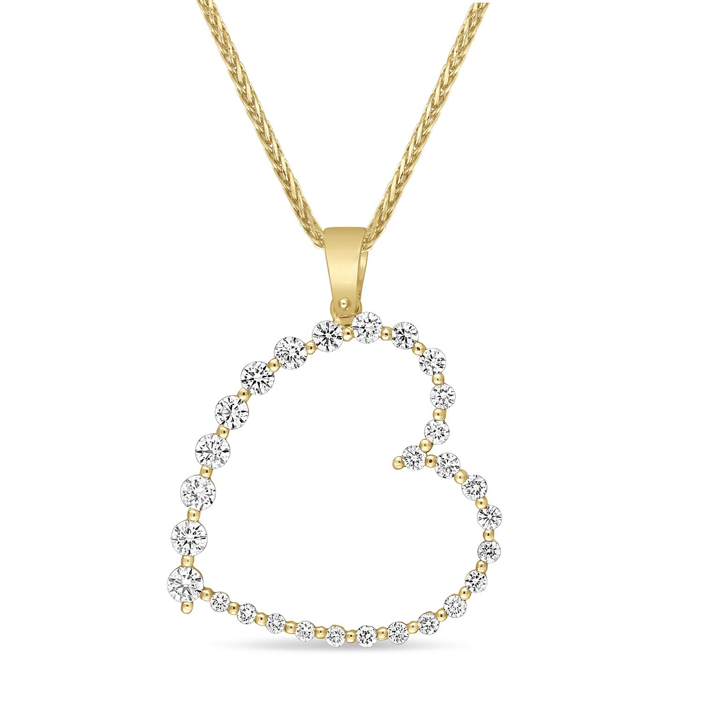 Round Diamond Fashion Pendant 18k Yellow Gold (0.60 ct)