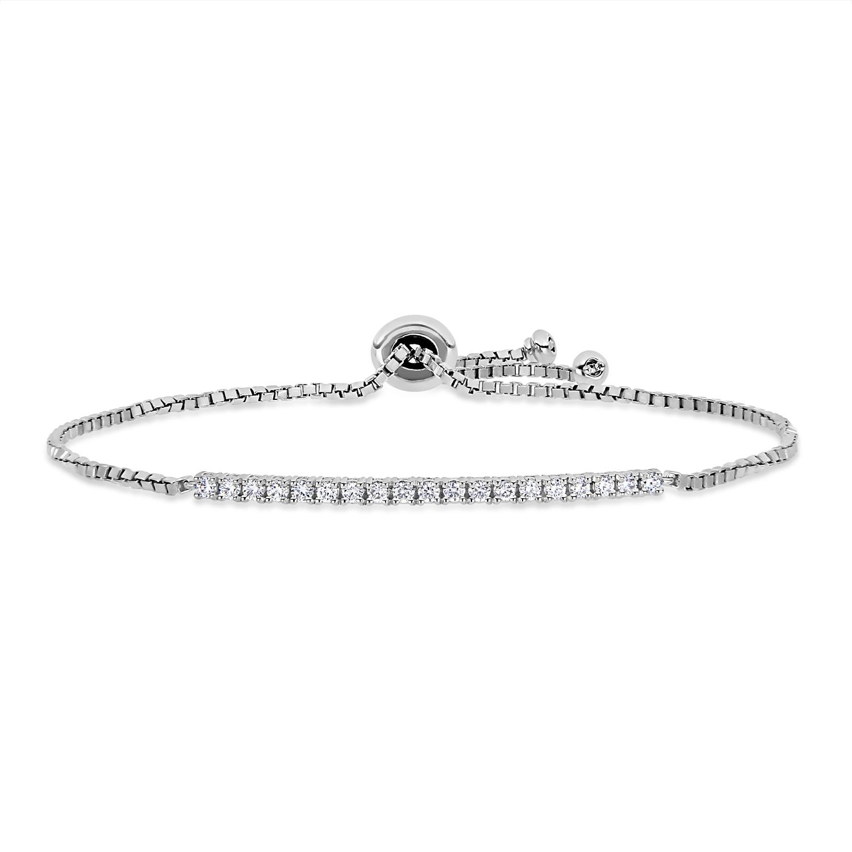 Round Diamond Bracelet 18k White Gold (0.375 ct)