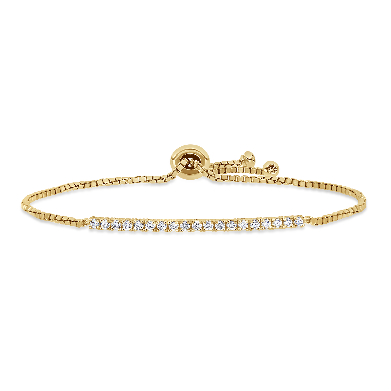 Round Diamond Bracelet 18k Yellow Gold (0.375 ct)