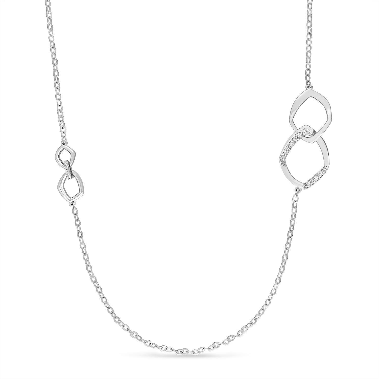 Round Diamond Necklace 18k White Gold (0.30 ct)