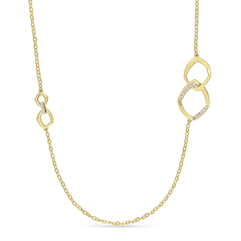 Round Diamond Necklace 18k Yellow Gold (0.30 ct)