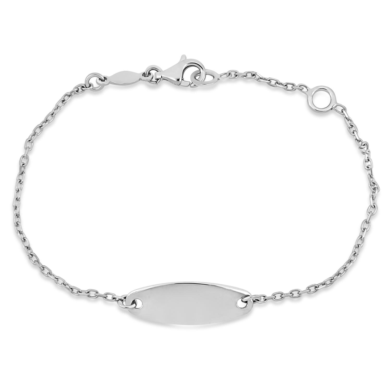Link ID Bracelet 18k White Gold