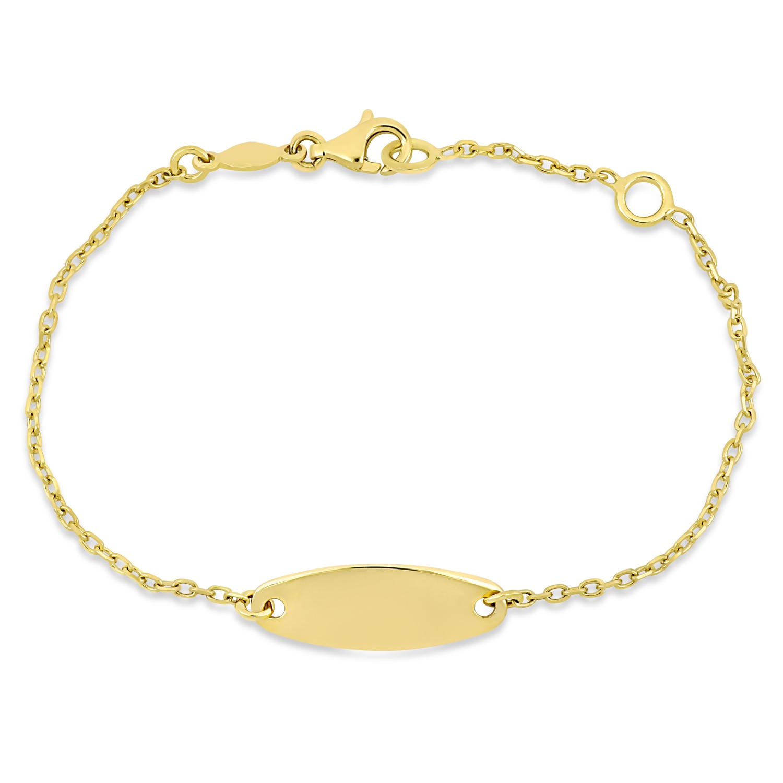 Link ID Bracelet 18k Yellow Gold