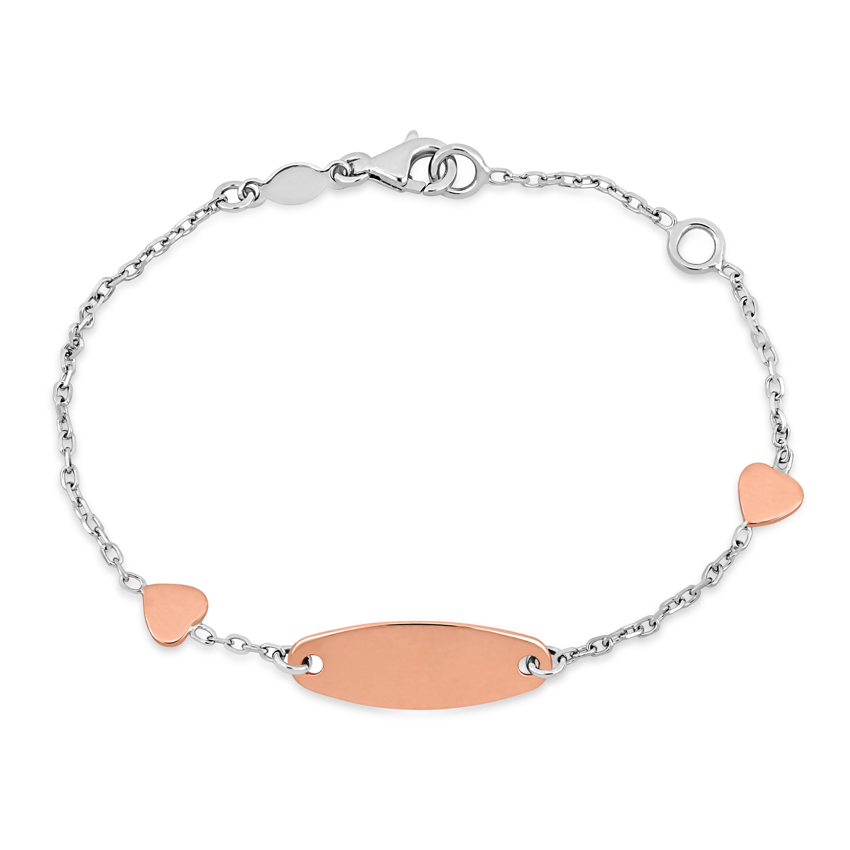 Heart ID Bracelet 18k Rose Gold