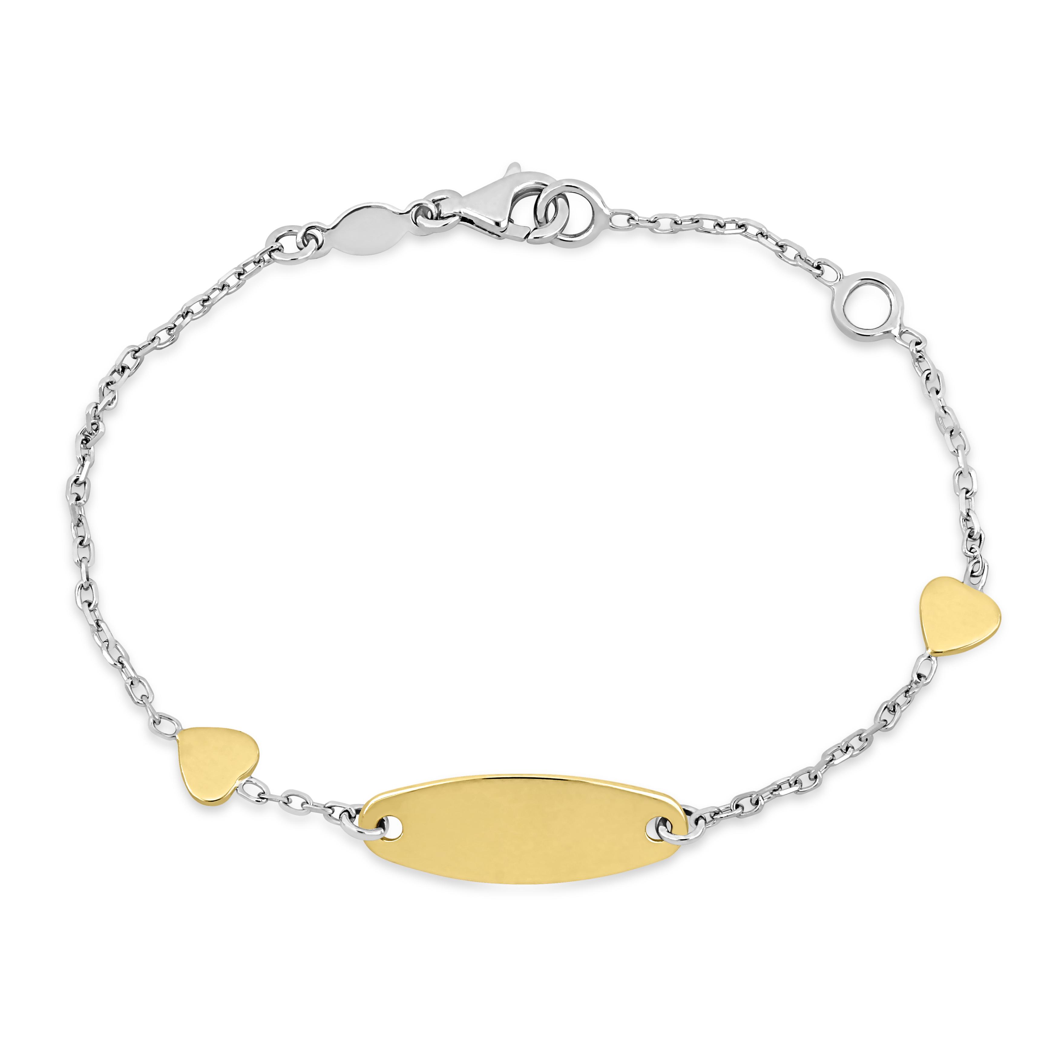 Heart ID Bracelet 18k Yellow Gold