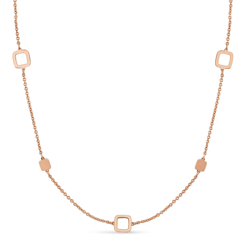 Fancy Squares Necklace 18k Rose Gold