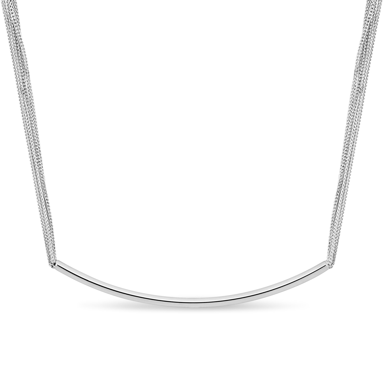 Multi Strand Necklace 18k White Gold