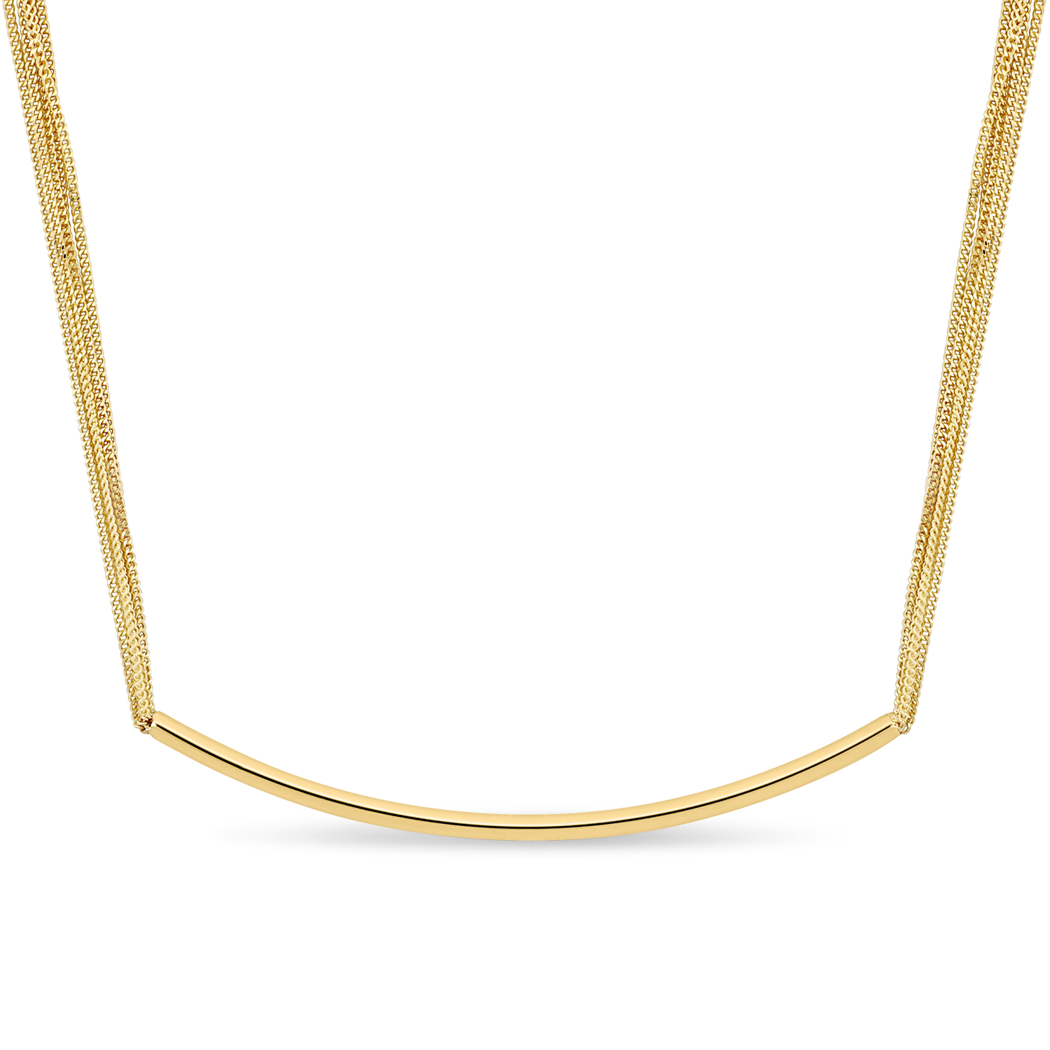 Multi Strand Necklace 18k Yellow Gold